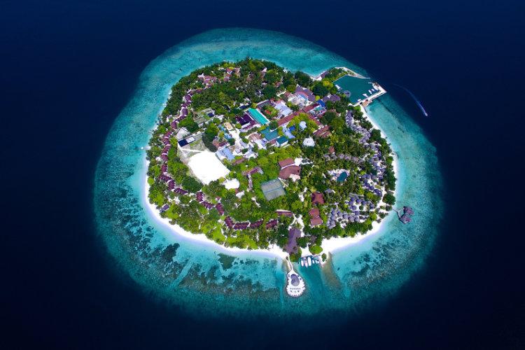 Aerial view of Bandos Maldives resort