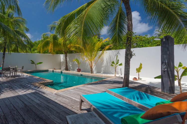 Pool villa at Kureda Island Resort