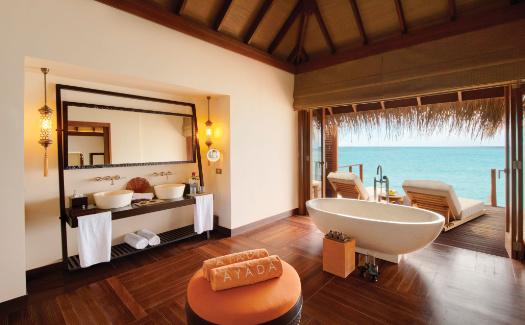 Interior of ocean villa at ayada maldives