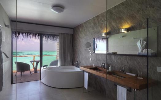 Bathroom lagoon villa