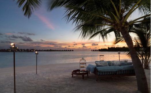 Sunset romantic night at Naladhu Maldives