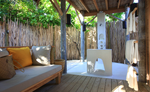 Outdoor open-air shower