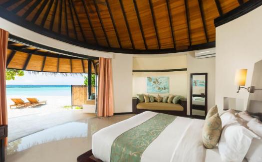 Interior of villa with beach access