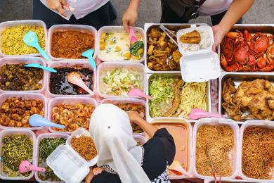 Halal street food in Malaysia
