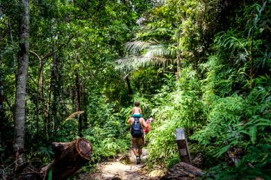 Family hiking in Penang