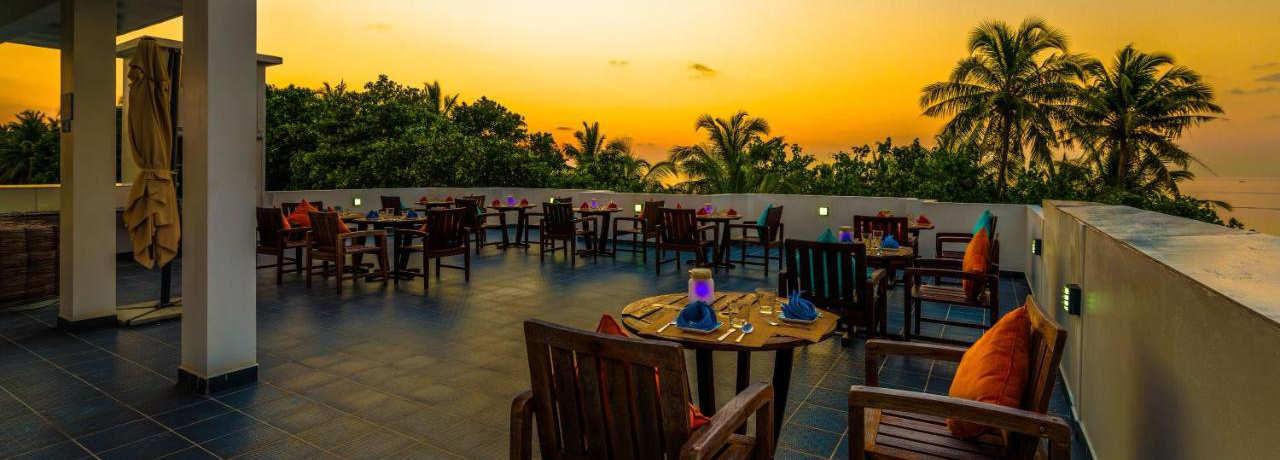 Alcohol free roof top Maldives restaurant
