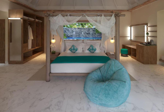 Four poster bed at Kihaa