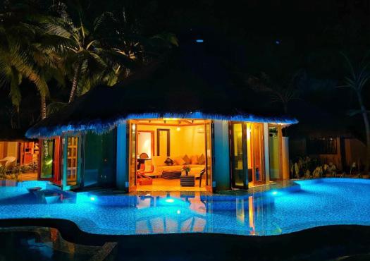 Kihaa Maldives at night