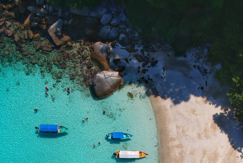 Aerial shot of Perhentian island