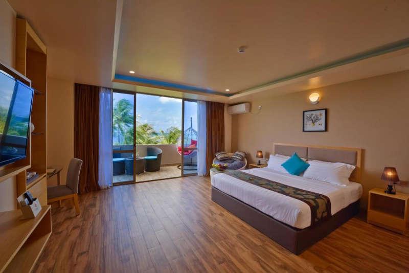 Season paradise bedroom interior